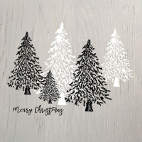 Servietten 33x33 cm - Wooden Trees Grey