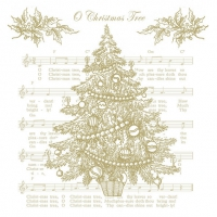 Servietten 33x33 cm - O Christmas Tree Gold