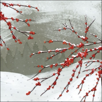 Lunch Servietten Snowy Berries