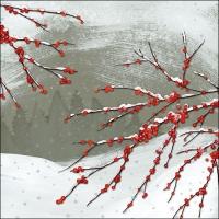 Servietten 33x33 cm - Verschneite Beeren