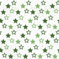 Servietten 33x33 cm - Stars All Over Green