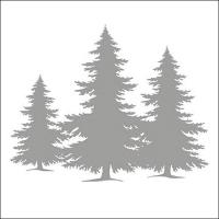 Servietten 33x33 cm - Tree Silhouette Silver