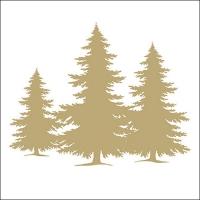 Servietten 33x33 cm - Baum Silhouette Gold