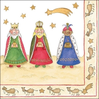 Servietten 33x33 cm - Three Wise Kings