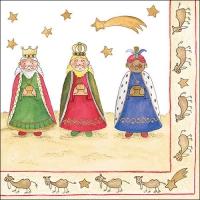 Servietten 33x33 cm - Three Wise Kings