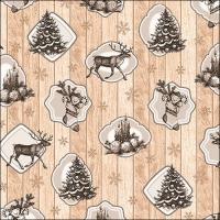 Servietten 33x33 cm - Cottage Christmas