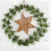 Servietten 33x33 cm - Wreath And Star