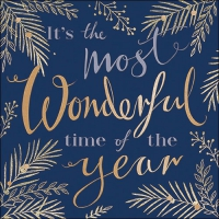 Servietten 33x33 cm - Wonderful Time Blue