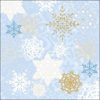 Servietten 33x33 cm - Delicate Stamps Blue