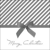 Servietten 33x33 cm - Christmas Bow Silver