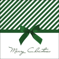 Servietten 33x33 cm - Christmas Bow Green