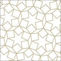 Servietten 33x33 cm - Star Dimensions Gold