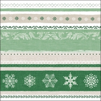 Servietten 33x33 cm - Winter Border Green