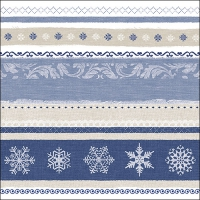 Servietten 33x33 cm - Winter Border Blue