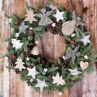 Servietten 33x33 cm - X-Mas Wreath