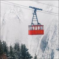 Servietten 33x33 cm - Ski Gondola