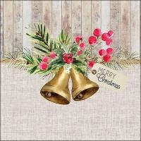 Servietten 33x33 cm - Christmas Bells