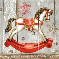 Servietten 33x33 cm - Rocking Horse
