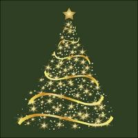 Servietten 33x33 cm - Shining Tree Green