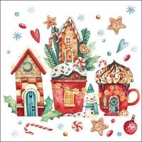 Servietten 33x33 cm - Magical Christmas