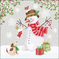 Servietten 33x33 cm - Snowman Meet Friends