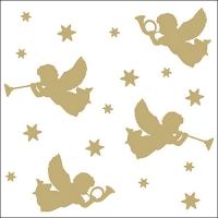 Servietten 33x33 cm - Trumpet Angels Gold