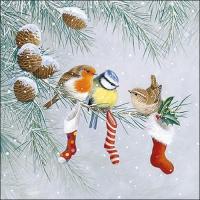 Servietten 33x33 cm - Christmas Socks