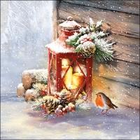 Servietten 33x33 cm - Robin By Lantern