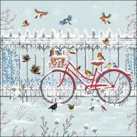 Servietten 33x33 cm - Snowy Bicycle