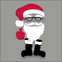 Servietten 33x33 cm - Invisible Santa Grey