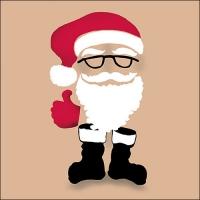 Servietten 33x33 cm - Invisible Santa Brown