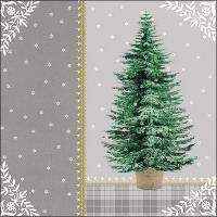 Servietten 33x33 cm - Little Tree Grey