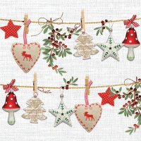Servietten 33x33 cm - Rustical Christmas