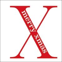 Servietten 33x33 cm - Big X Red