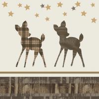 Servietten 33x33 cm - Wooden Deer