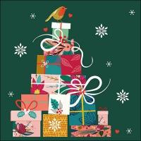 Servietten 33x33 cm - Stack Of Presents