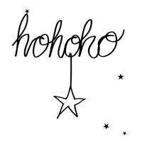 Servietten 33x33 cm - Hohoho Star Black
