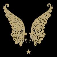 Servietten 33x33 cm - Wings Black/Gold