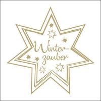 Servietten 33x33 cm - Winterzauber Gold/White