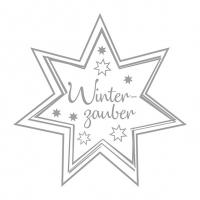 Servietten 33x33 cm - Winterzauber Silver/White
