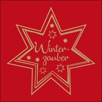Servietten 33x33 cm - Winterzauber Gold/Red