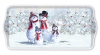 Tablett - 34X17cm Snowman With Hat