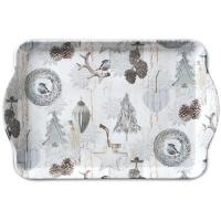 Tablett - 15X23cm White Decorations
