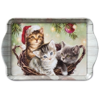 Tablett - 15X23cm Cats In Basket