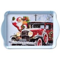 Tablett - 15X23cm Santa Automobile