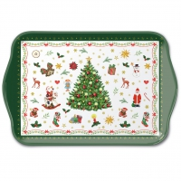Tablett - Christmas Evergreen White