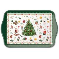 Tablett - Christmas Evergreen White