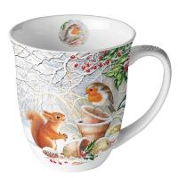 Porzellan-Henkelbecher Mug 0.4 L Winter Picture