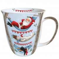 Porzellan-Tasse Relaxing Christmas