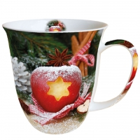 Porzellan-Tasse Apple